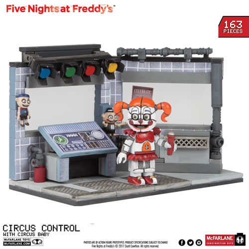 McFarlane Building Sets - Five Nights At Freddys - Medium Set #02 - Circus Control